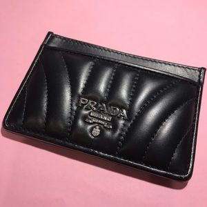 Authentic Prada Diagramme Leather Card Case